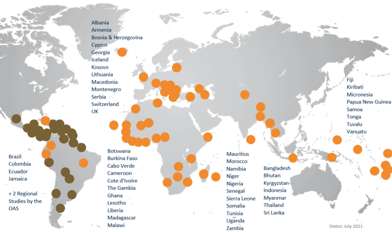 Mapping of CMM Reviews all over the World